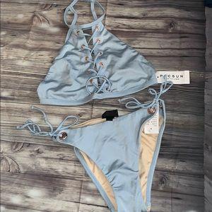 Bikini set baby blue ☀️ la hearts